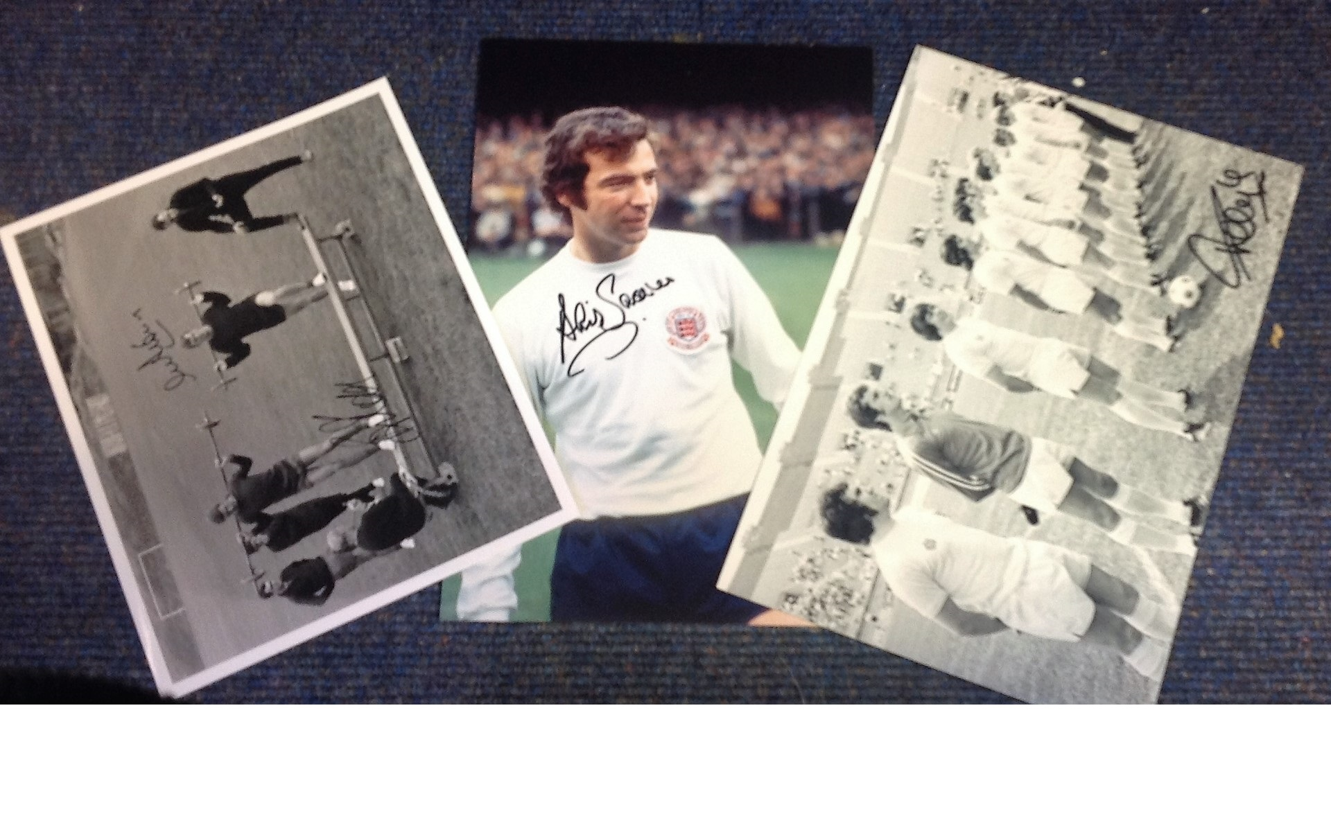 Lot 3 - Football collection 3 signed photos signature in collection Gerry Francis, Brian Kidd, Alex
