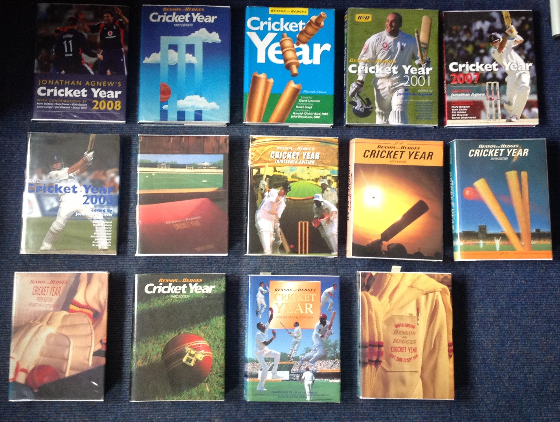 Lot 24 - Cricket collection 29 hardback Benson and Hedges Year books complete from 1982 to 2010 with over