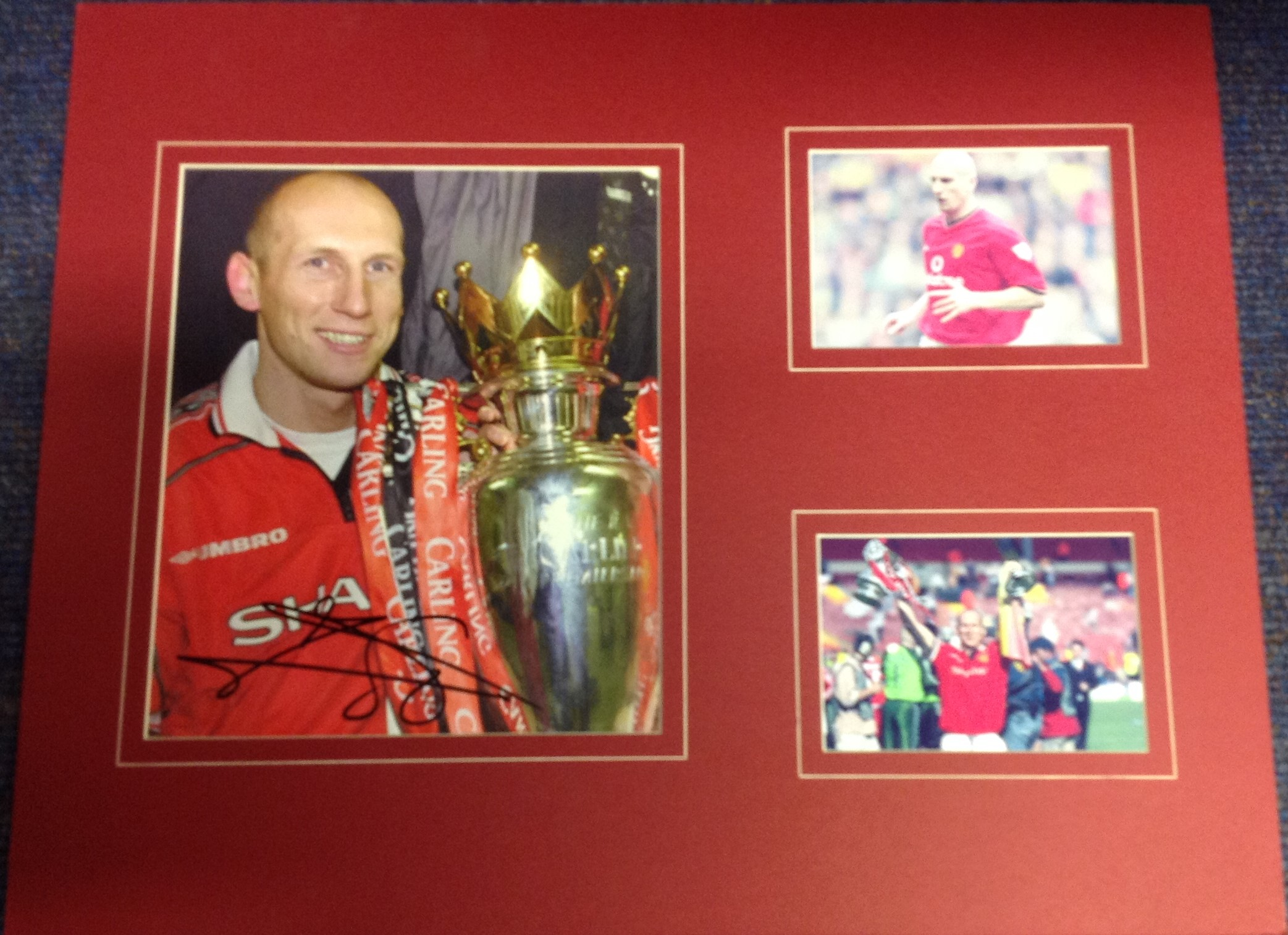 Lot 51 - Football Jaap Stam 16x20 mounted signature piece pictured during his playing days at Manchester