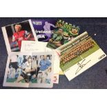 Lot 7 - Rugby collection includes Ireland v USA world cup programme and six signature pieces including Billy