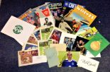 Lot 5 - Football collection approx 30 signature pieces including signed programmes, PHQ cards and