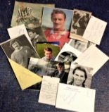 Lot 22 - Football collection 15 colour photos, album pages and newspaper and magazine cuttings signatures