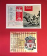 Lot 49 - Football Liverpool FC 24x20 approx mounted signature piece includes Ron Yeats testimonial