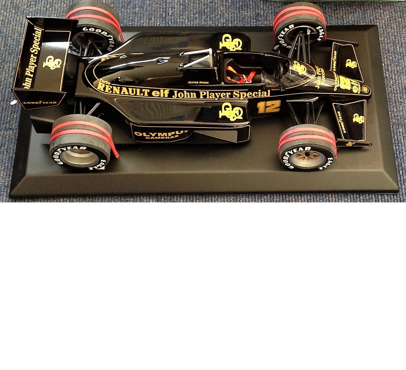 Lot 25 - Motor Racing Ayrton Sennas 1985 Lotus John Player Special 97T Formula One scale model. The Lotus 97T