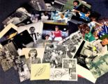Lot 4 - Football collection 35 signed photos and signature pieces includes Gareth Bale, David Batty, Kenny