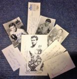 Lot 16 - Boxing collection 7 signatures from some legendary names such as Terry Downs, Howard Winstone,