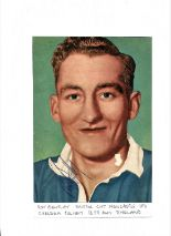 Lot 640 - Football Legends Roy Bentley 8x5 signed colour vintage magazine cutting fixed to card. Roy Thomas