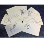 Lot 15 - Football Barcelona collection seven 4x6 signed white cards from Barcelona players of the past