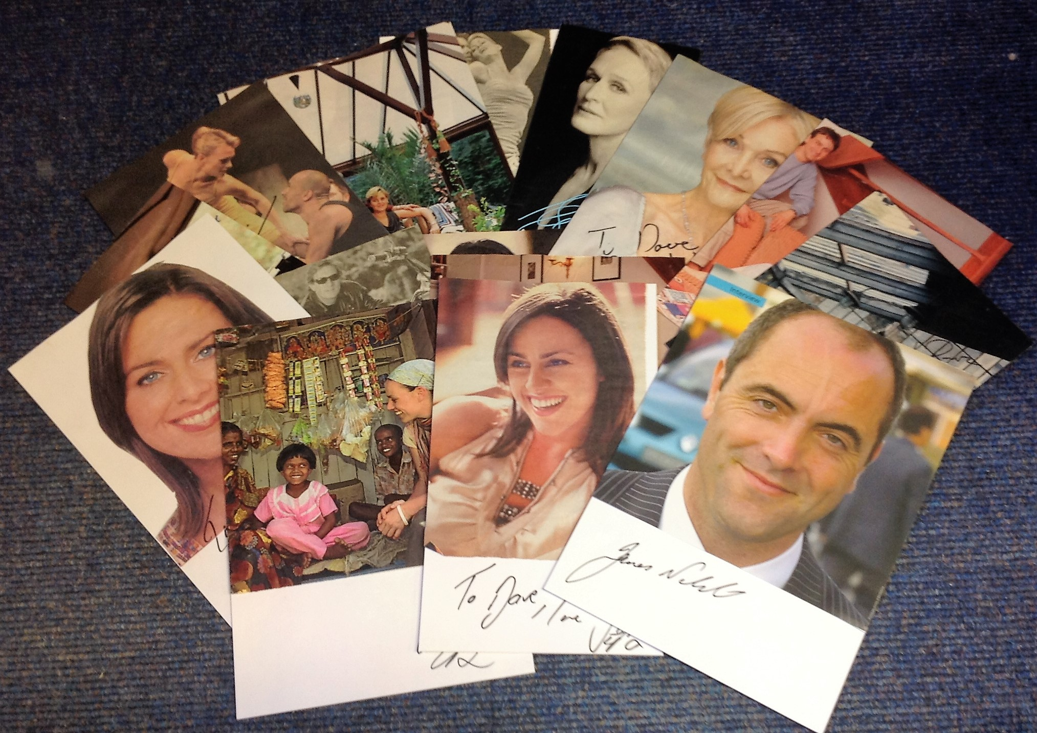Lot 11 - TV/Film/Theatre signed collection. 16 items, mainly newspaper photos. Some of names included are