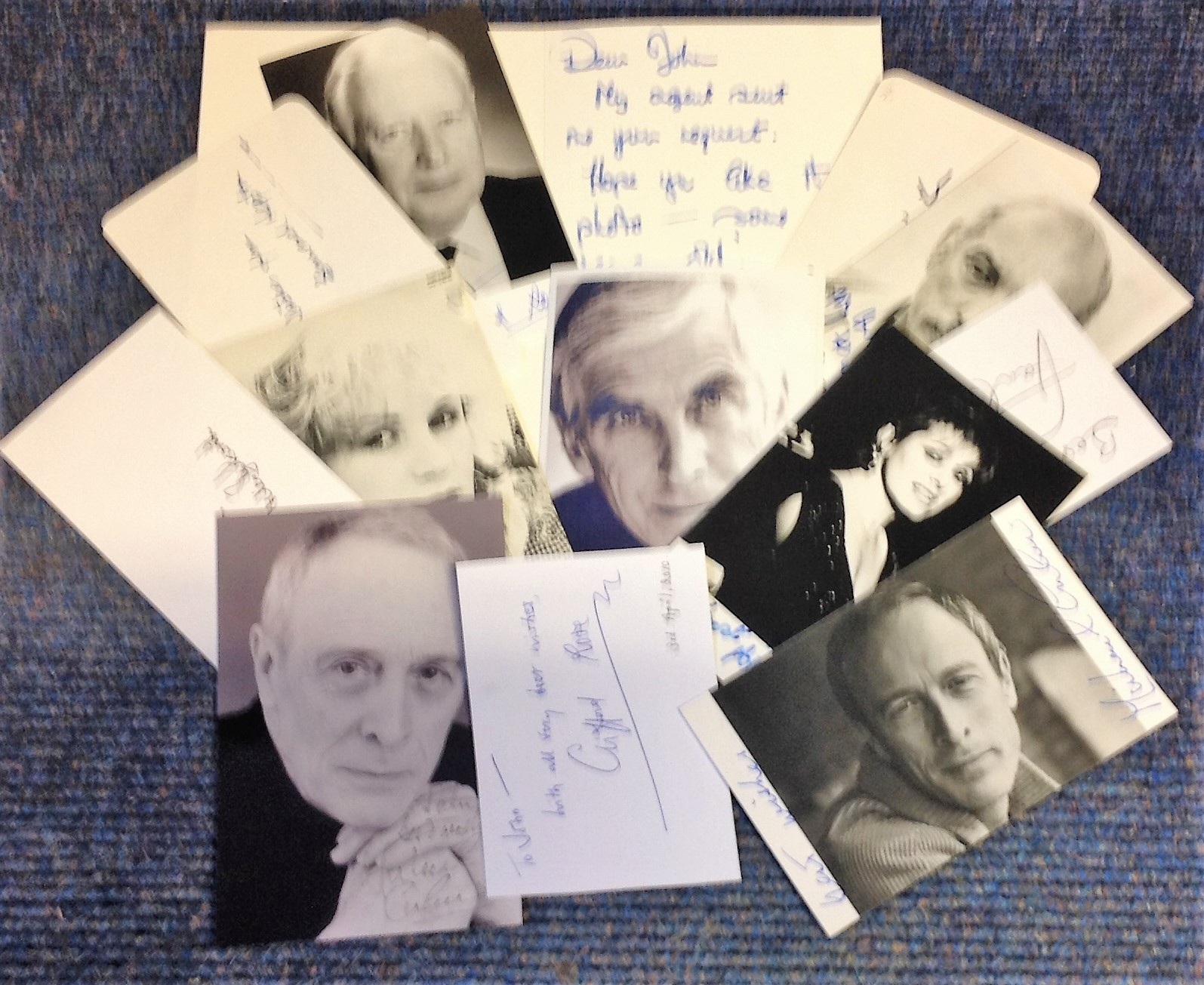 Lot 14 - Assorted tv collection. 13 items mainly 6x4 photos. Some of names included are Terrence Hardman,