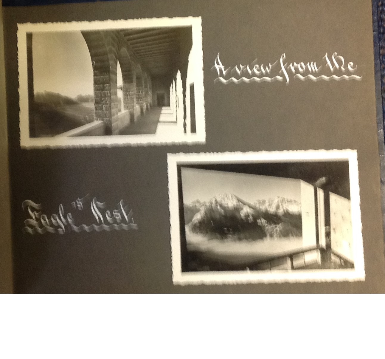 Lot 27 - Eagles Nest Berchtesgaden and Top Brass WW2 original vintage photo album. Bound album containing