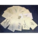 Lot 7 - 20 of Hollywood TV and Film signed white cards, James Mitchum, Sara Suzanne Browne, Gilles Chiasson,