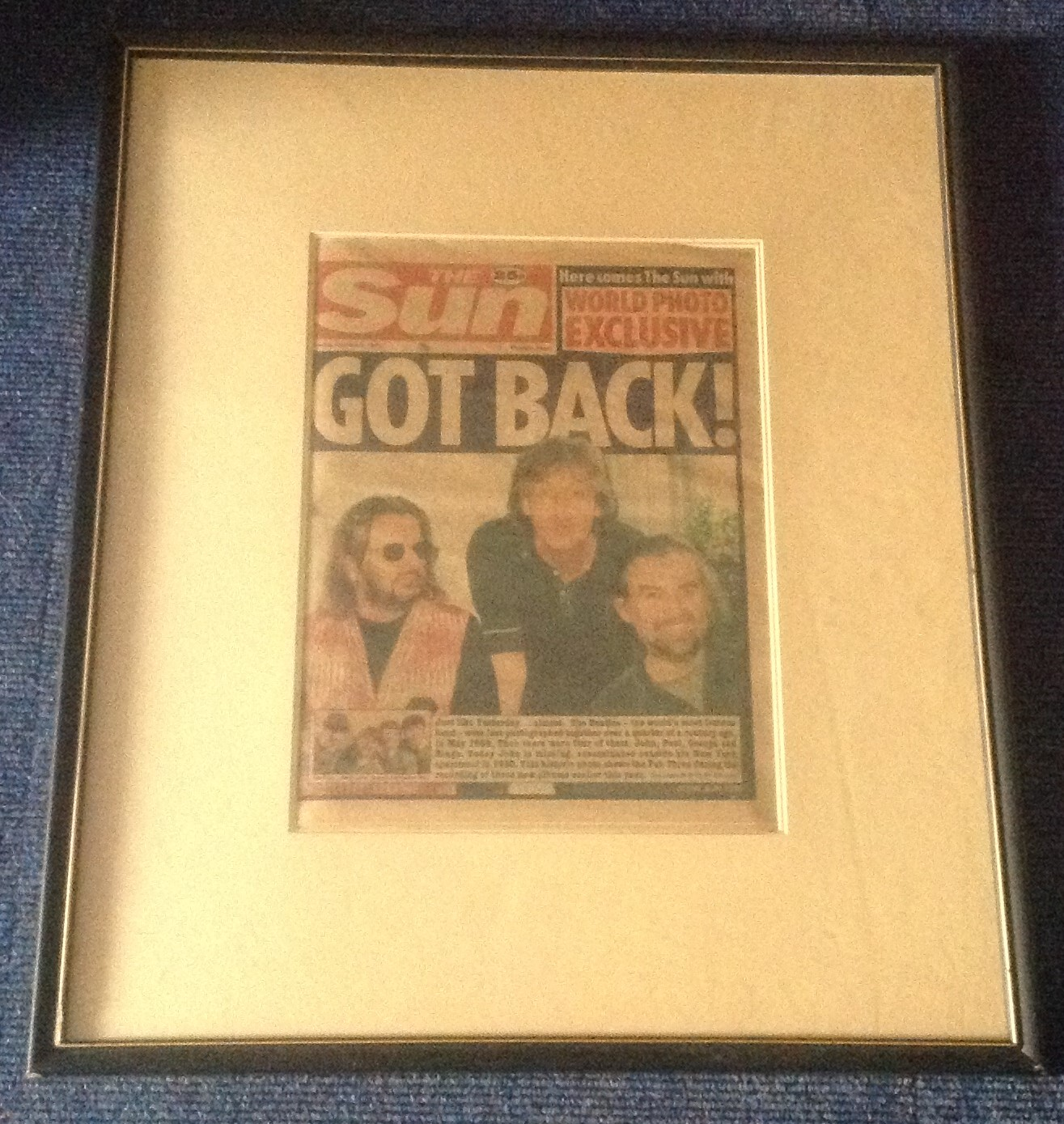 Lot 48 - The Beatles 3/10/1995 original Sun Newspaper for the reforming of the group for the Anthology