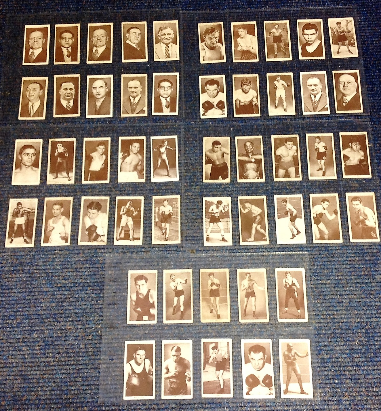 Lot 1 - Churchman Boxing Personalities Cigarette cards, complete set of 50 vintage cards issued in 1938 with