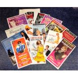 Lot 8 - Theatre flyer signed collection. 14 items. Among the signatures are Linda Robson, Peter Bowles,
