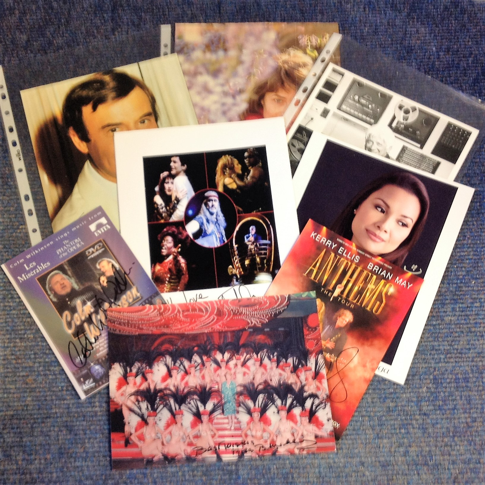 Lot 18 - Music signed collection. 9 items. Mainly 10x8 photos. Some of names included are Miss Bluebell,