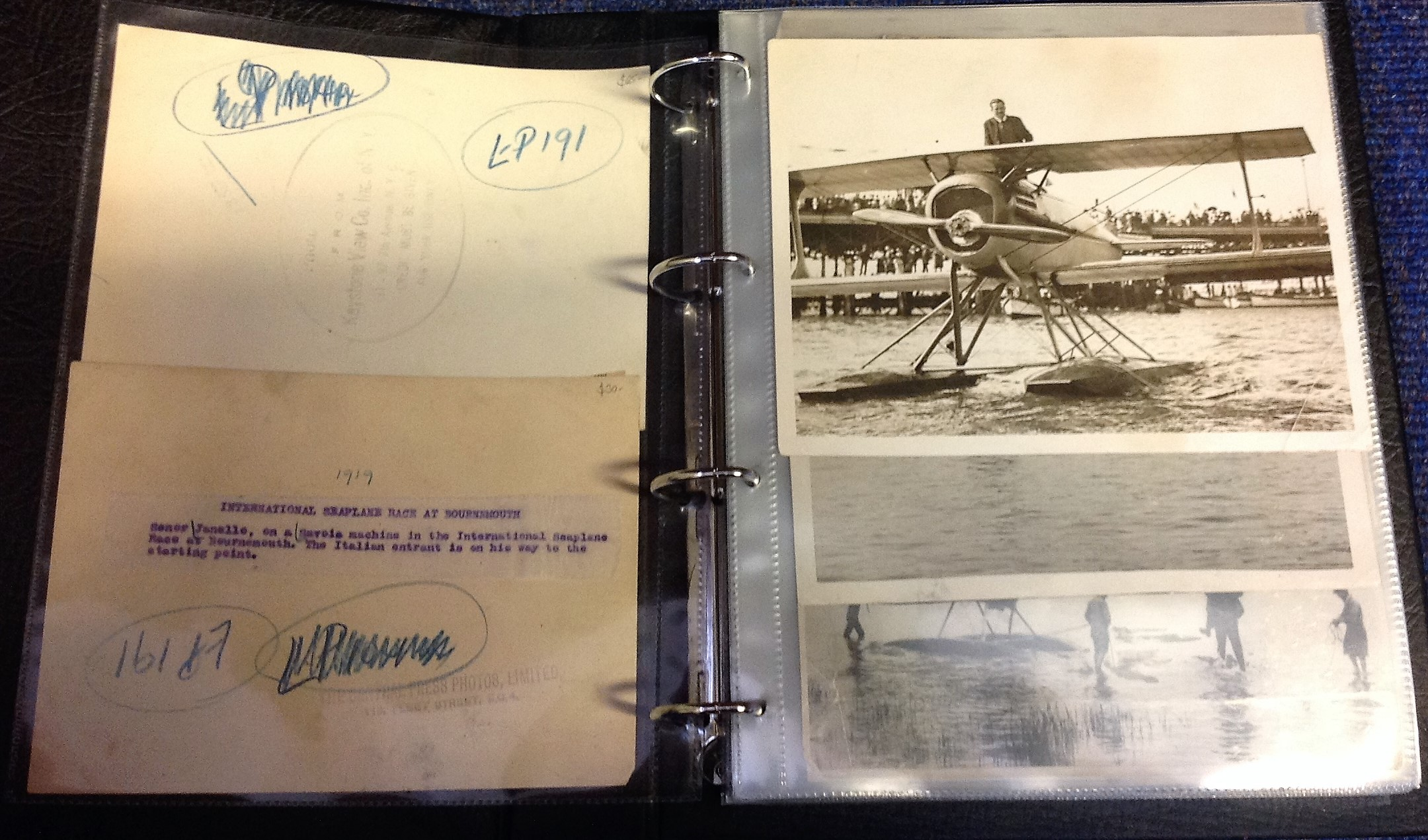 Lot 29 - 1900s Schneider Trophy Archive historically significant piece of Aviation history: A wide-ranging