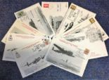 Lot 24 - Lancaster Association cover collection. 9 covers all flown with insert cards and information. Good