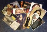 Lot 10 - TV/Film/Theatre signed collection. 15 items, mainly newspaper photos. Some of names included are