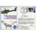 Lot 28 - Henrich Focke World Helicopter Championships cover signed by Henrich Focke, founder and designer for