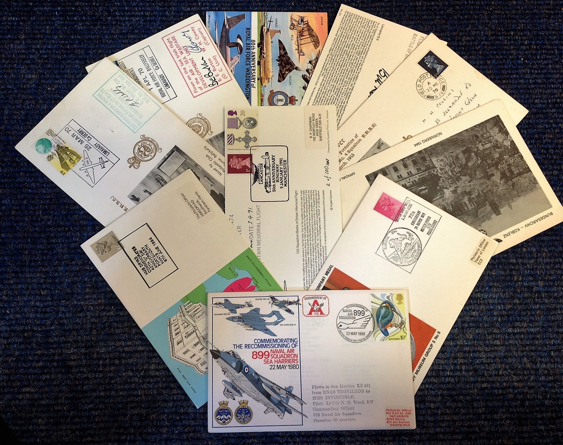 Lot 6 - World War Two FDC collection includes 14, covers includes 204 Sqdn cover Air Sea Warfare development