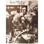 Lot 70 - Sir Frank Whittle signed 7 x 5 b/w photo shown in his factory. Good condition Est.