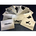 Lot 19 - World War Two ten 7x9 vintage b/w photos Avro Lancaster bomber pictured during World War Two. Good