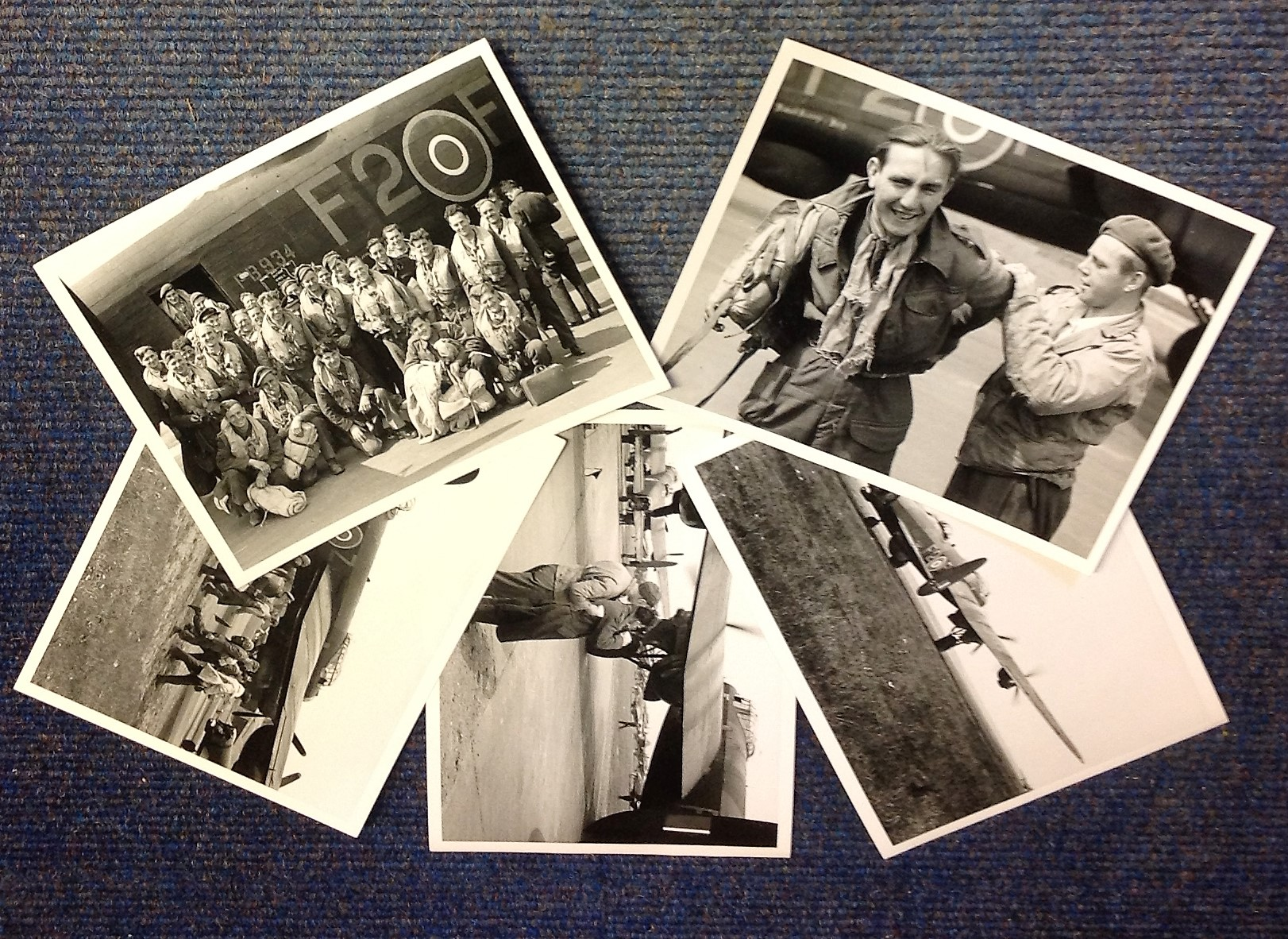 Lot 16 - World War Two collection five 7x9 vintage b/w photos Operation Exodus at the end of World War Two.