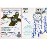 Lot 27 - WW2 Germans RAF Halton cover signed by German Great War aces Carl Berr, Paul Strahle, Rudolf
