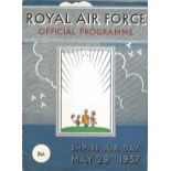 Lot 47 - 1937 RAF Empire Air Day official programme at RAF Kenley, 24 pages. Good condition Est.