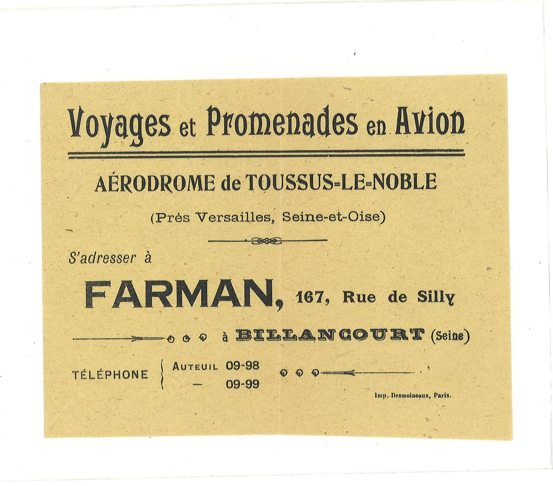 Lot 51 - Farman Airways vintage leaflet. Good condition Est.