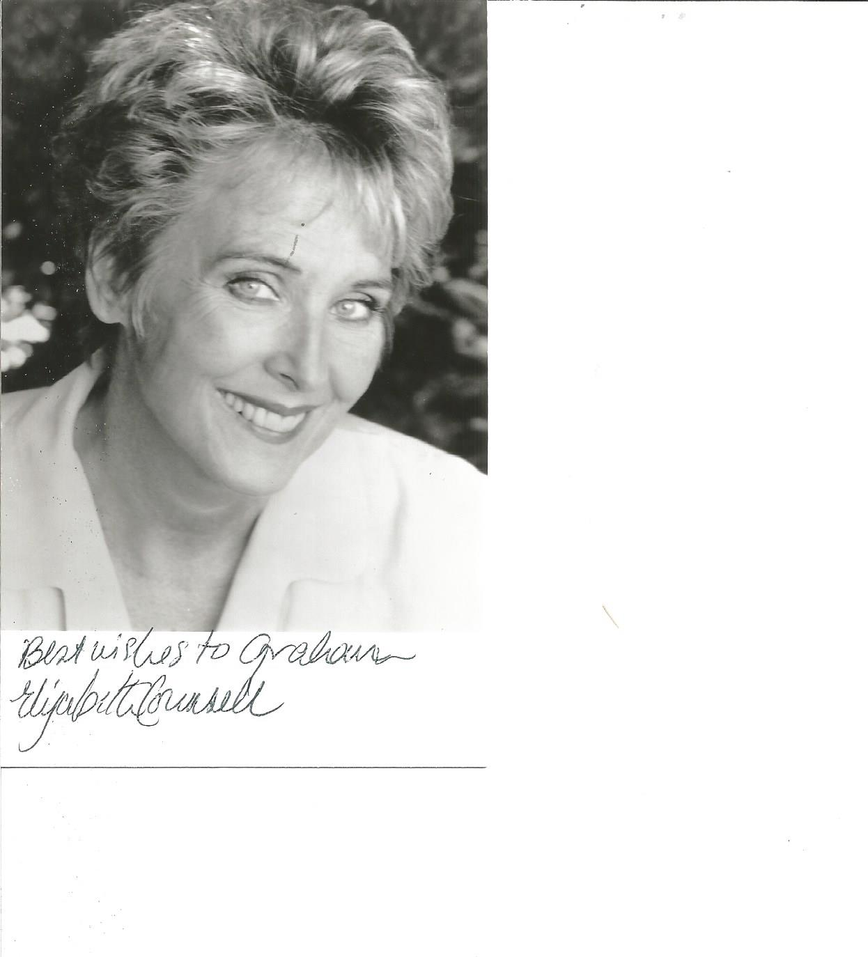 Lot 68 - Elizabeth Counsell signed 6x4 b/w photo. Dedicated. Good Condition. All signed pieces come with a