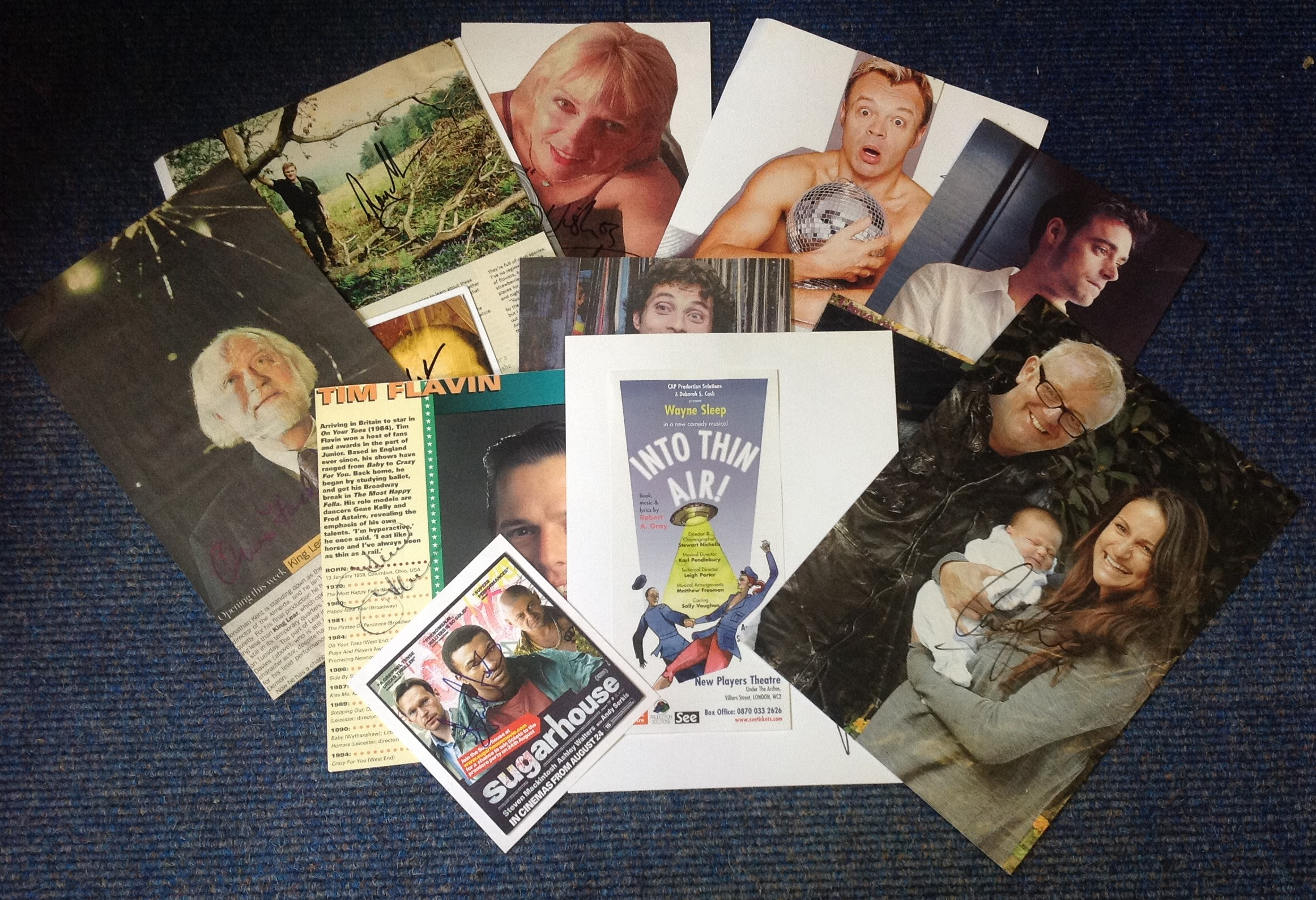 Lot 17 - TV/film signed collection. 15 items. Assortment of magazine photos and flyers. Some of names