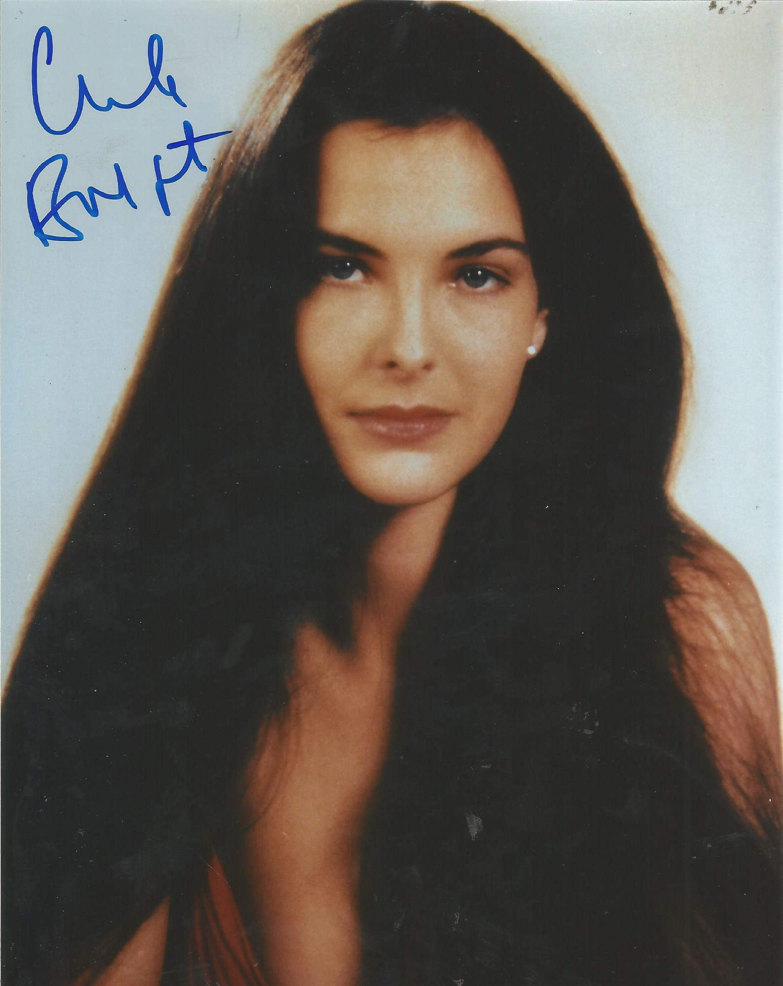 Lot 75 - Carole Bouquet signed 10x8 colour photo. Good Condition. All signed pieces come with a Certificate