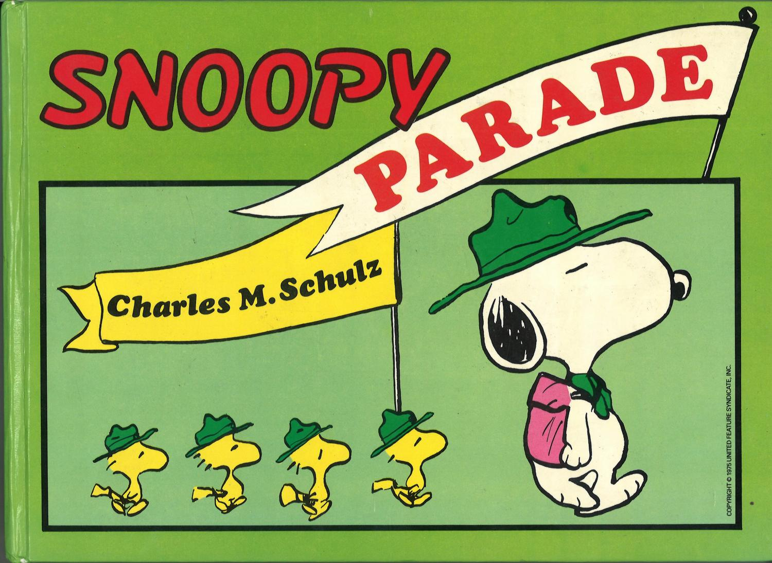 Lot 50 - Charles Schulz signed Snoopy Parade hardback book. Signed on inside title page. Good Condition.