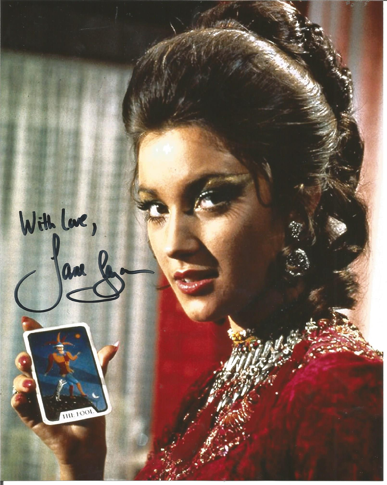Lot 77 - Jane Seymour signed 10x8 colour photo. Good Condition. All signed pieces come with a Certificate