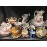 Lot 42 - A collection of Welsh guardy pottery and other items of English pottery