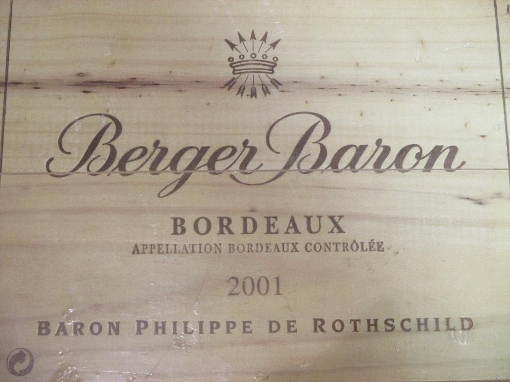 Lot 10 - Three bordeaux wines 2001 Rothschild, cased