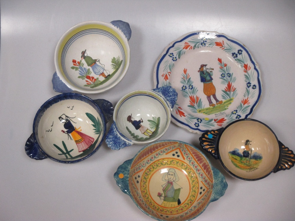Lot 30 - A collection of Quimper pottery