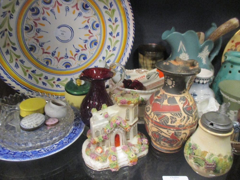 Lot 46 - A quantity of mixed English and Continental ceramics to include a Royal Worcester 'Lord Nelson'