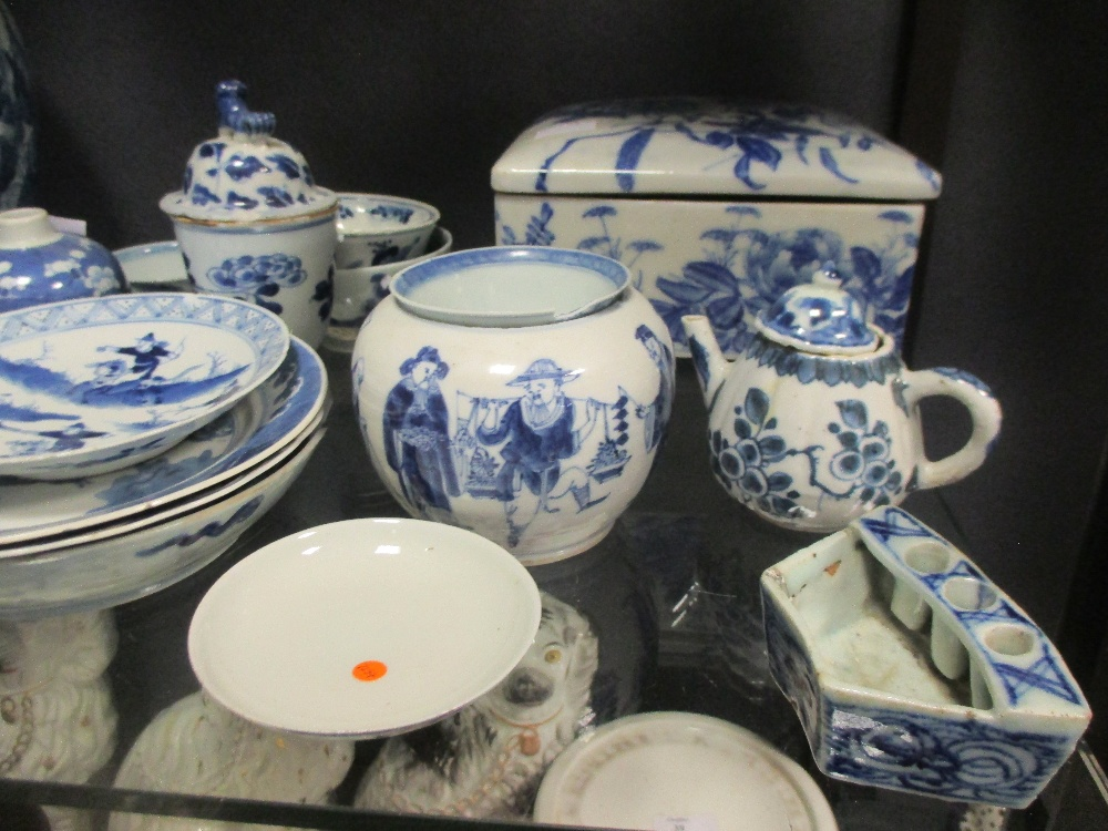 Lot 38 - Chinese blue and white, vases, dishes etc