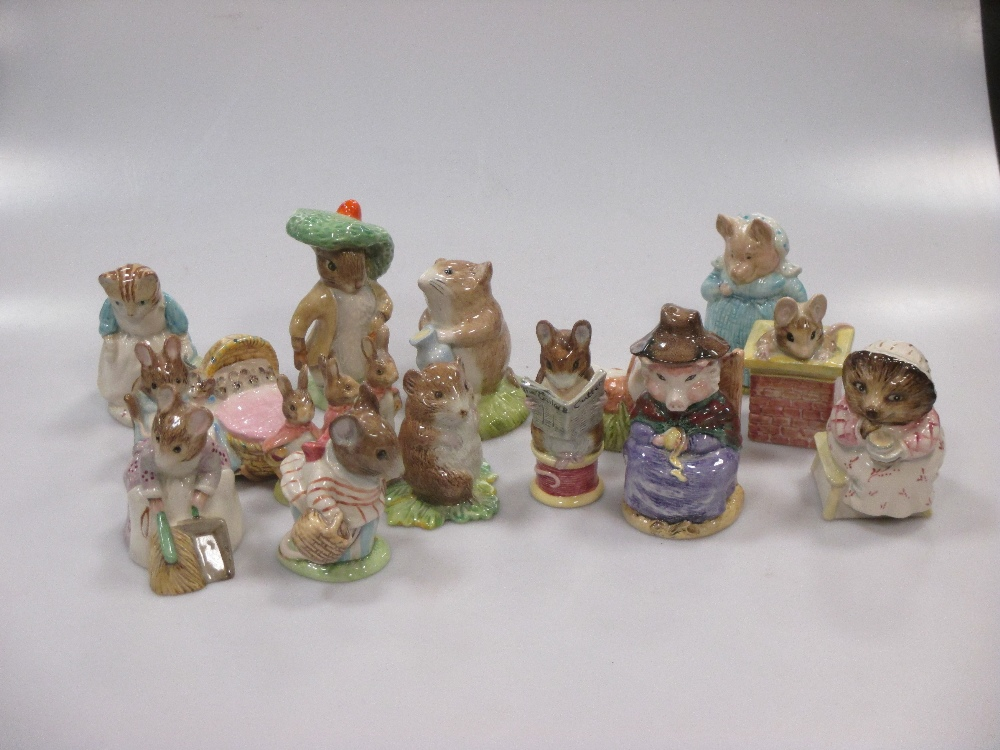 Lot 44 - A large quantity of Royal Albert Beautrix Potter figures to include Mrs Tiggy Winkle, Peter