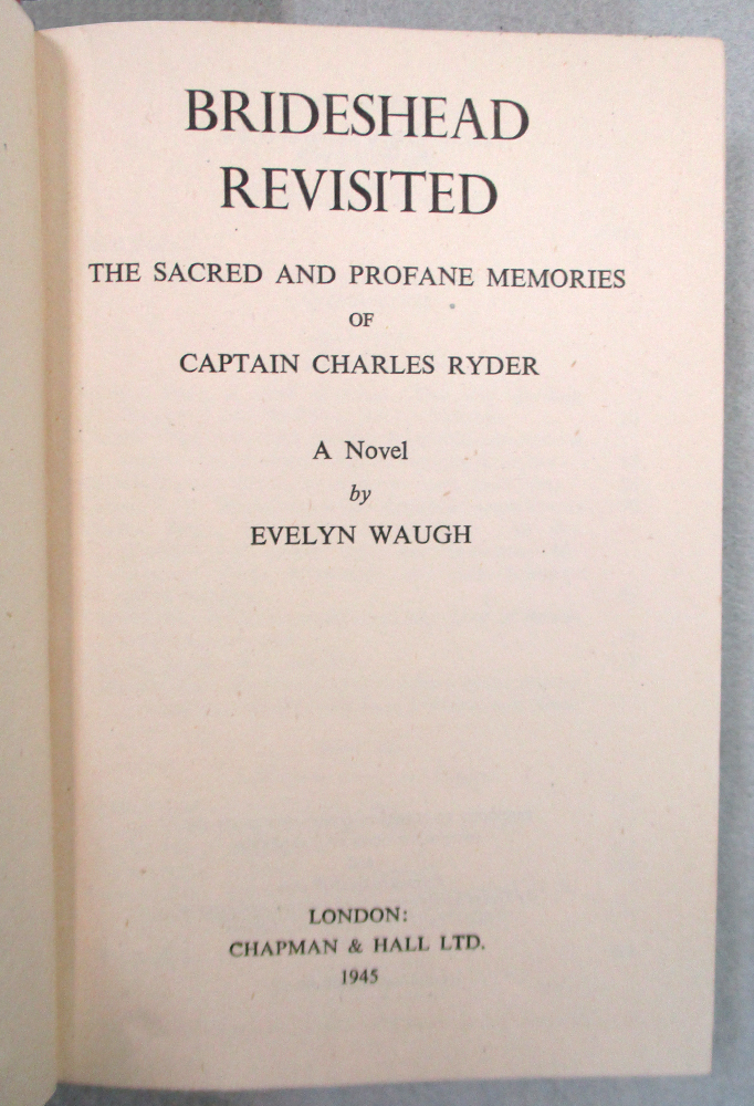 WAUGH (Evelyn) Brideshead Revisited, first edition London 1945, 8vo, in intact dust jacket, light - Image 2 of 6