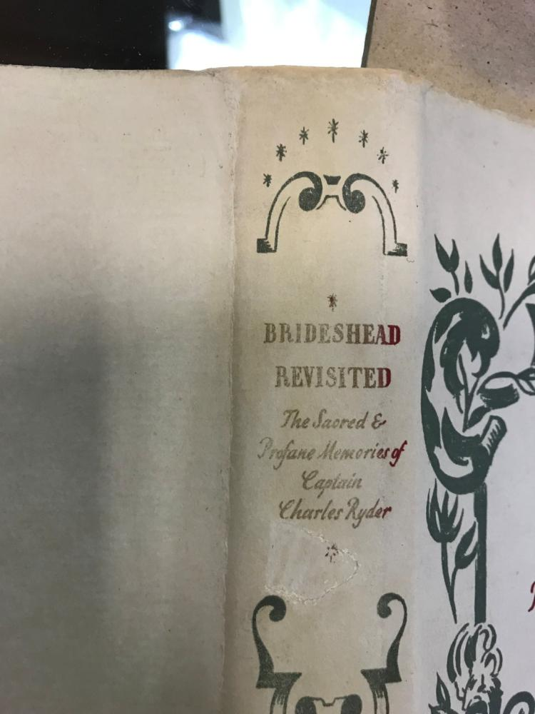 WAUGH (Evelyn) Brideshead Revisited, first edition London 1945, 8vo, in intact dust jacket, light - Image 6 of 6