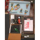 Lot 196 - Diecast painted model farm toys by G & M Models, boxed, including Jones bailer, Straw elevator,