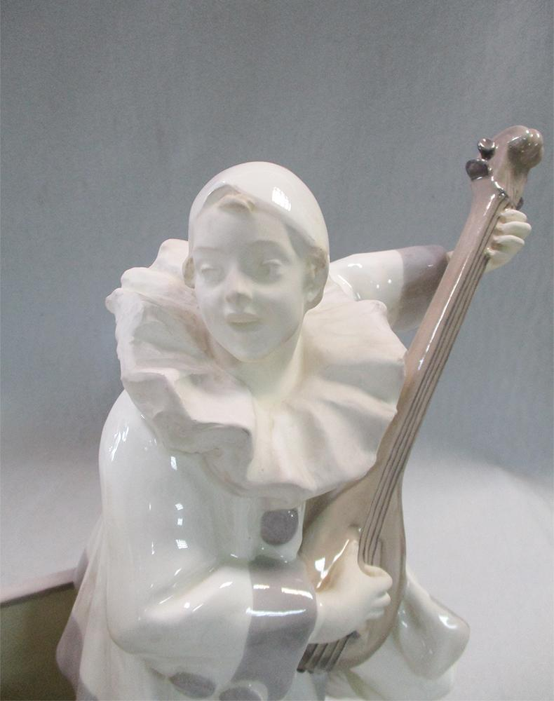 Lot 61 - A Schauer, Vienna faience Pierrot and Pierrette figure group by Hoffmann, the figures modelled