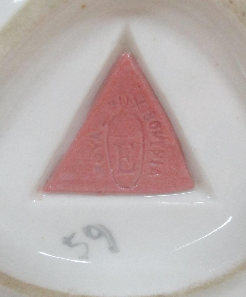 Lot 36 - Alois Hampel for Royal Dux, an Art Nouveau porcelain double comport, in the form of a scantily