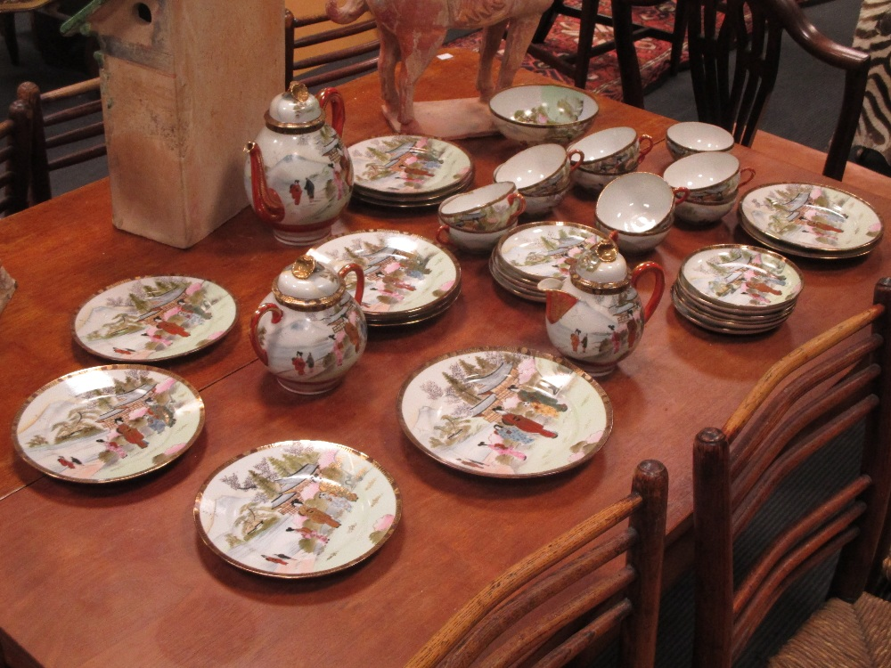 Lot 252 - A Chinese egg shell porcelain tea service