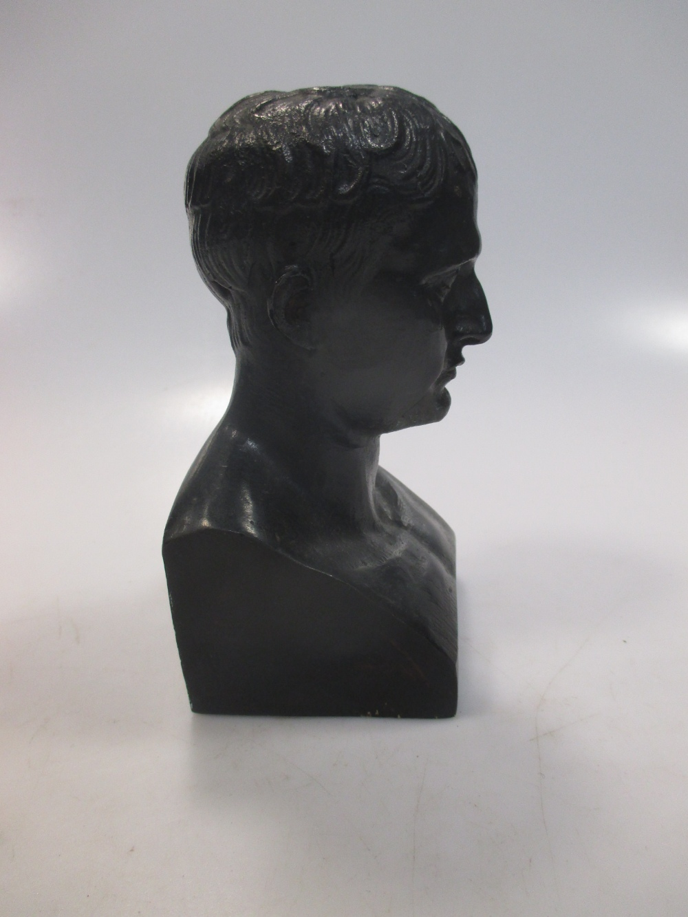 Lot 219 - After Canova, a bronze bust of Napolean, 14cm high