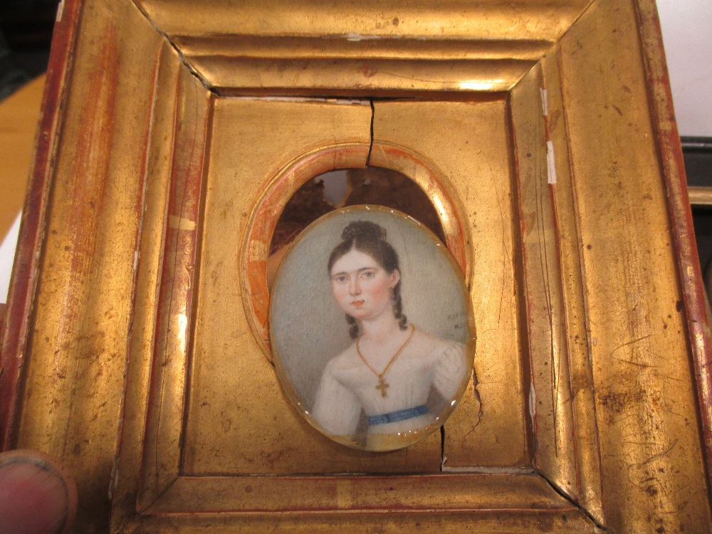 Lot 309 - Various continental 19th century and later portrait miniatures